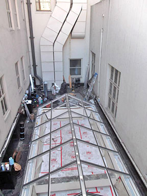 view of pinnacle 350 skylight at 450 post street case study