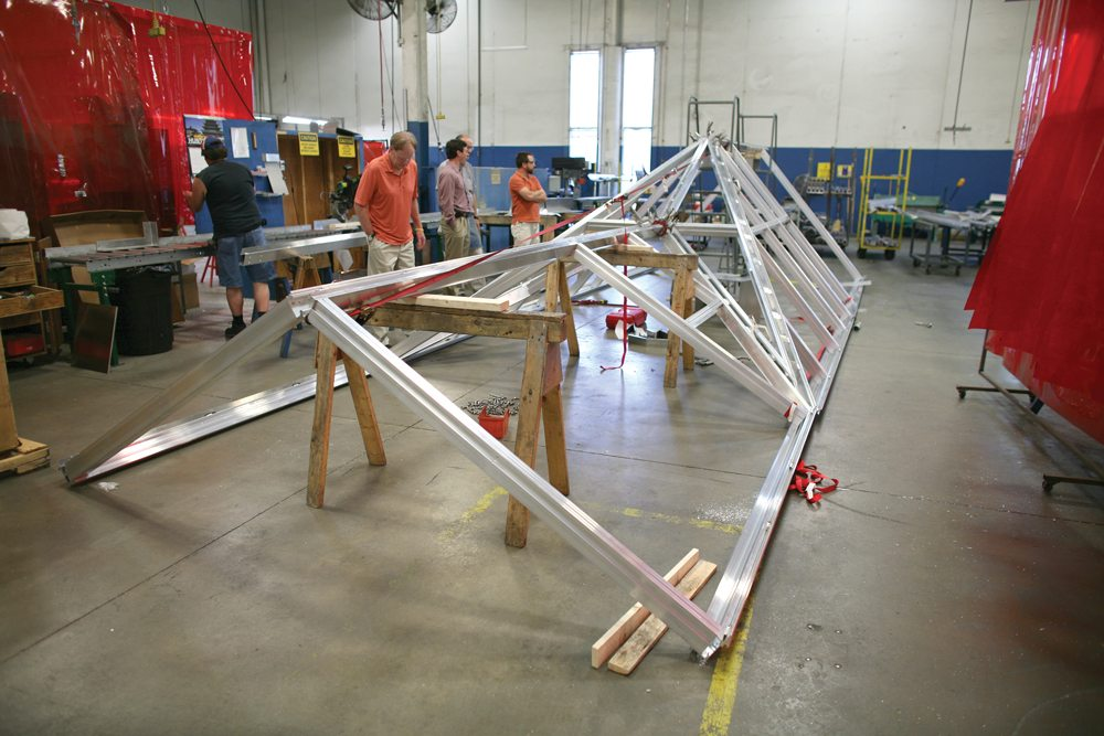 Pinnacle 350 Custom Extended Pyramid and Structural Ridge Skylight