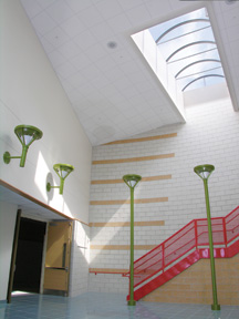 East End Elementary Barrel Vault Skylights Installation