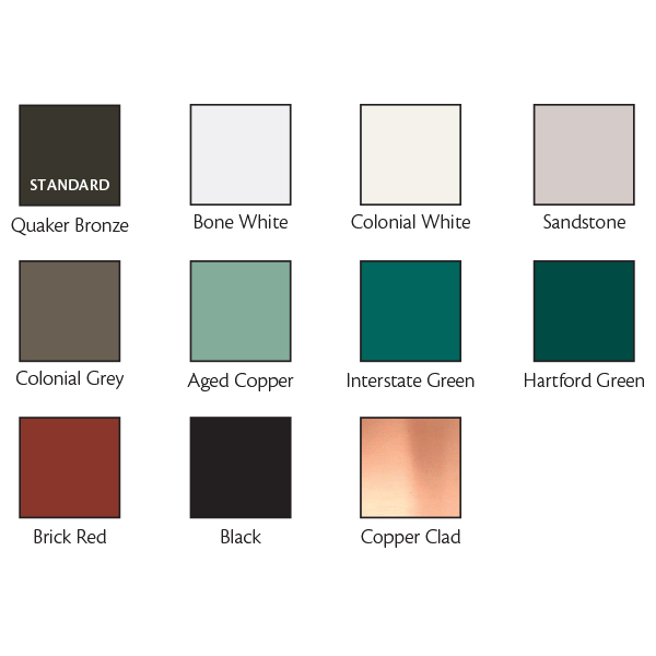 Wasco Residential Skylight Finish Colors