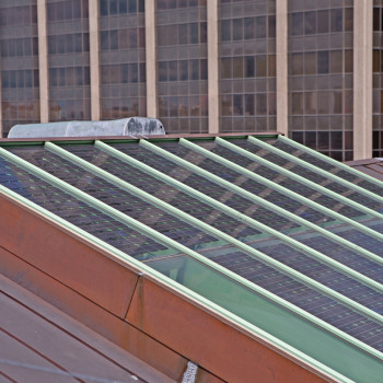 Exterior - Pinnacle Single Pitch with Photovoltaic Glass