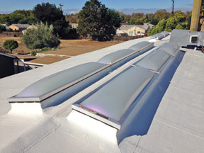 EcoSky3 Unit Skylights Installed on Library/Fire Station
