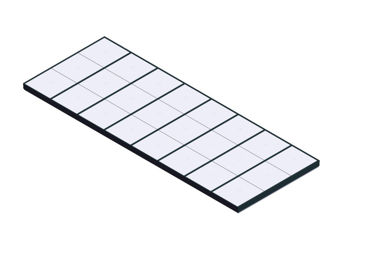 Custom Skylight Framing System Single Pitch Polycarbonate