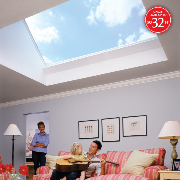 Skymax large flat glass unit skylight for Large skylights