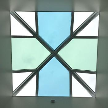Interior - Pinnacle 350 Pyramids, 10' x 10', with alternating glass tint pattern