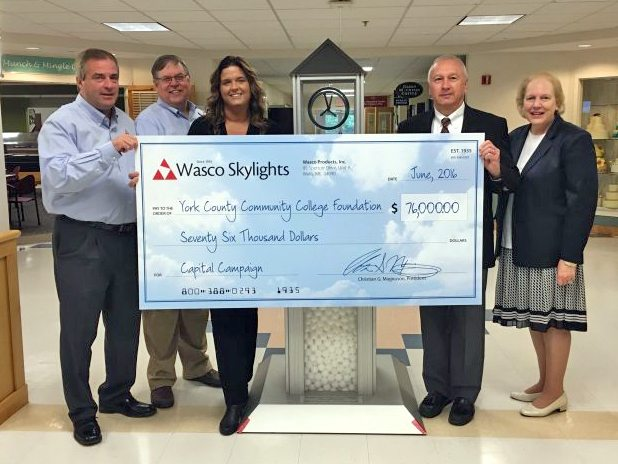 Wasco Contributes to York County Community College Capital Campaign