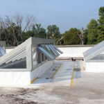 Lean-To Skylight System on Roof at Detroit Zoo