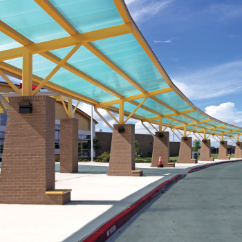 Standing Seam Canopy at Stephen F. Austin Middle School