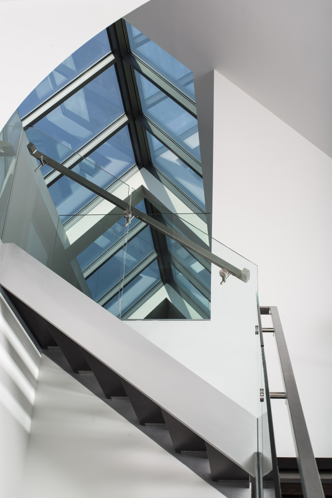 Structural Ride Skylight in Staircase