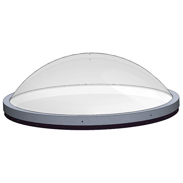 Circular Skydomes Double Dome Circular Curb Mount Units