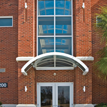 Cherokee Bend Office Park Exterior - Pinnacle 300 Segmented, Low Rise Barrel Vault Acrylic Entry Canopies