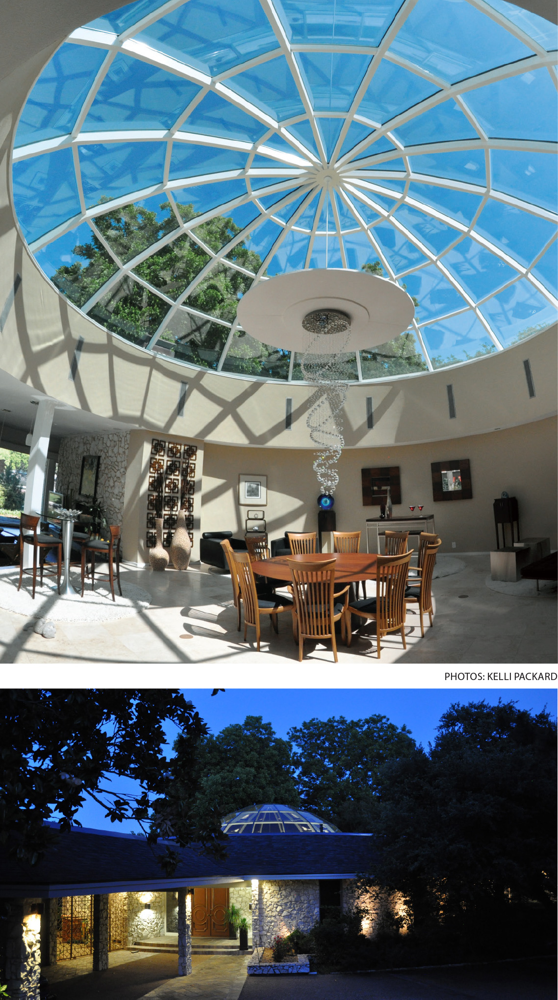 Private Texas Residence Displays Wasco S Glazed Glass Dome