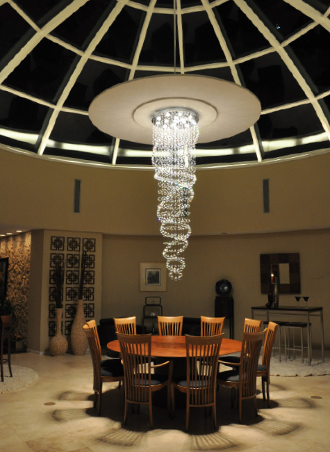 Greatest Private Texas Residence Displays Wasco's Glazed Glass Dome LR04