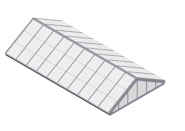 Polycarbonate Double Pitch - Bone White
