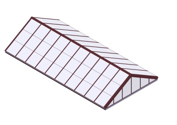 Polycarbonate Double Pitch - Brick Red