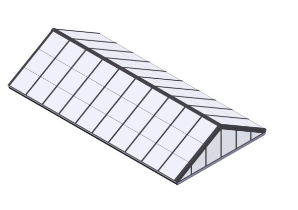 Polycarbonate Double Pitch - Colonial Gray