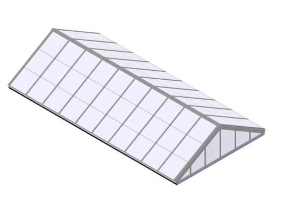 Polycarbonate Double Pitch - Colonial White