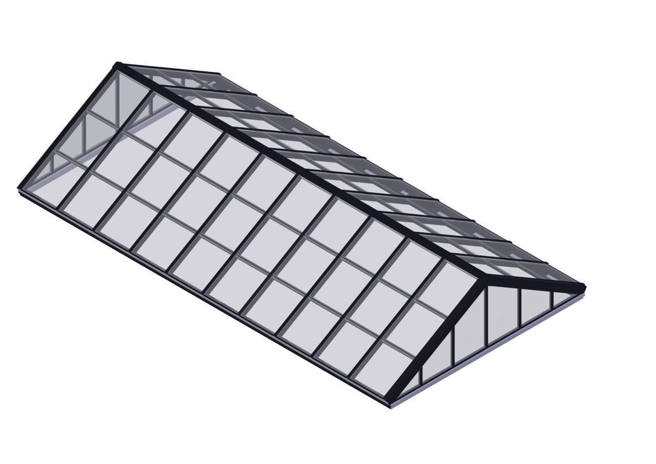 Glass Double Pitch Skylight High Quality Roof Windows