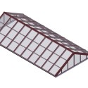 dp brick red double pitch glass