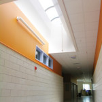 Barrel Vault Skylights at East End Elementary School