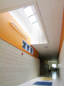 Barrel Vault Skylights at East End Elementary School