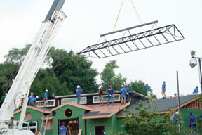 Lutz Residence Skylight During Instalation