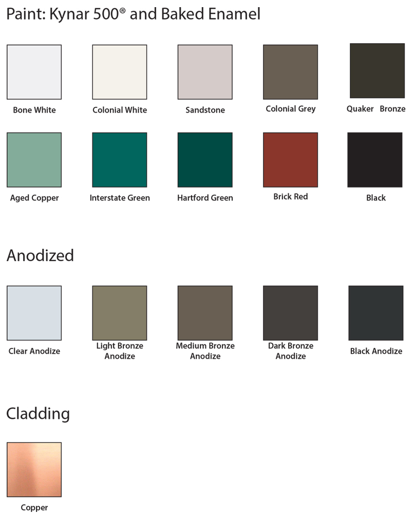 Colors: Architectural Paint Color Options In Various Coatings