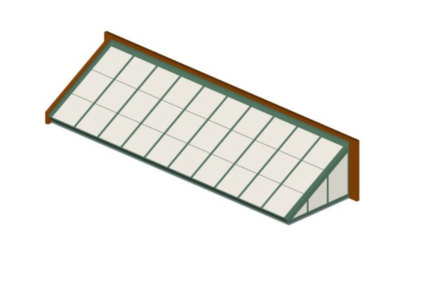 Aged Copper Polycarbonate Lean-To