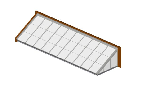 Bone White Polycarbonate Lean-To