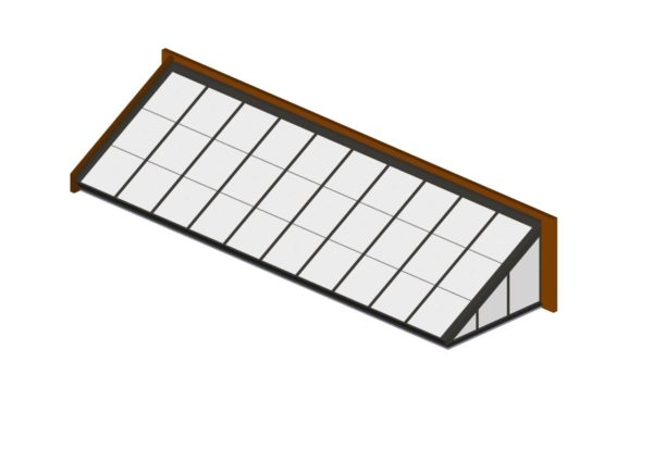 Colonial Gray Polycarbonate Lean-To