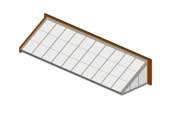 Colonial White Polycarbonate Lean-To