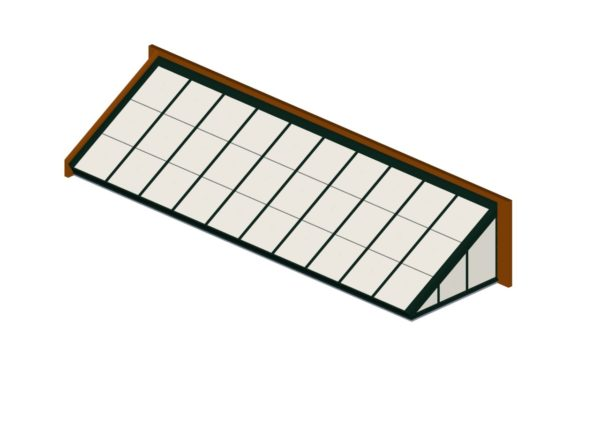 Hartford Green Polycarbonate Lean-To