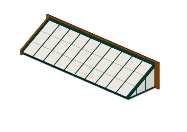 Interstate Green Polycarbonate Lean-To
