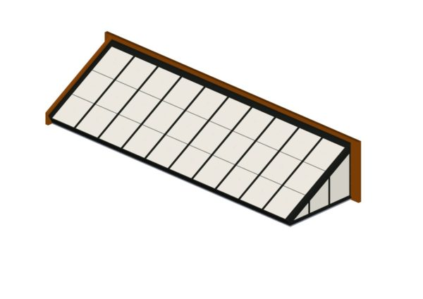 Hartford Green Polycarbonate Lean-To – Quaker Bronze