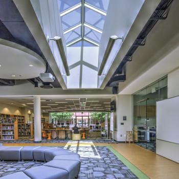 "Academic Commons Interior - Pinnacle 350 Structural Ridge, 14' x 24'-6"""