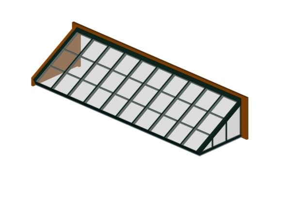glass lean to hartford green color option