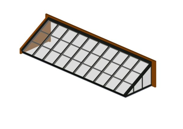 lean to quaker bronze glass