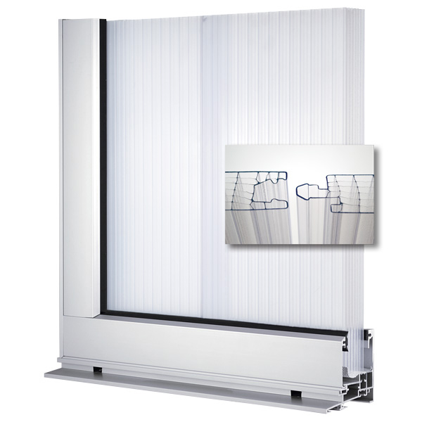 Polycarbonate Window Panels : Lumiwall multiwall polycarbonate vertical translucent