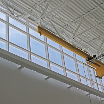 Flat Panel Vertical System, 25mm Clear Polycarbonate