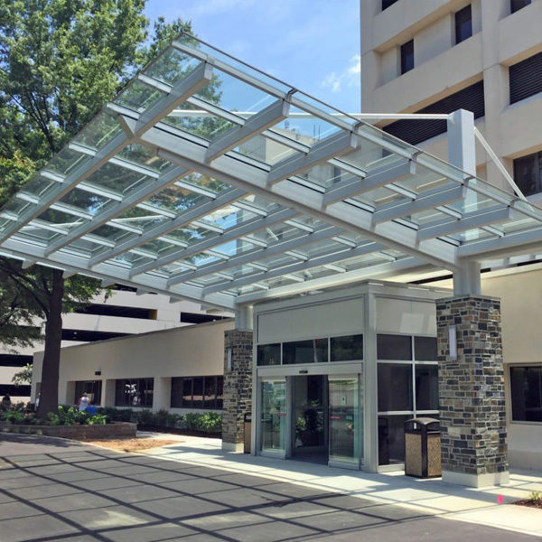 M-Series monolithic polycarbonate canopy system