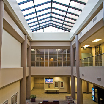 North Fulton Hospital Interior - Double Pitch with 25mm Bronze Polycarbonate