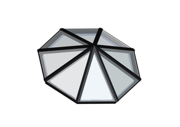 Octagonal Pyramid Black
