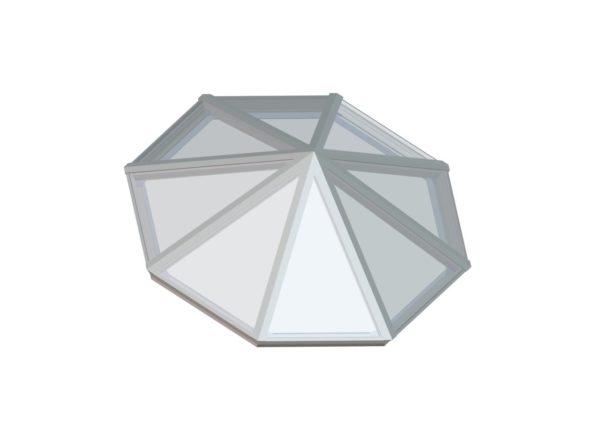 Octagonal Pyramid Bone White
