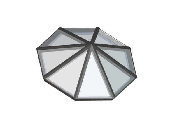 Octagonal Pyramid Colonial Gray