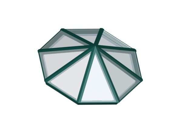 Octagonal Pyramid Insterstate Green