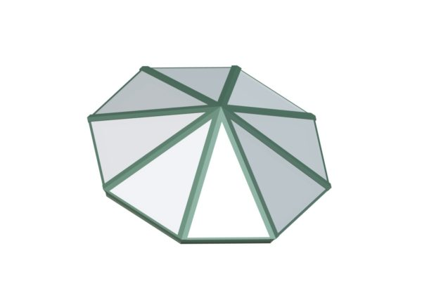 Octagonal Pyramid - Polycarbonate Aged Copper