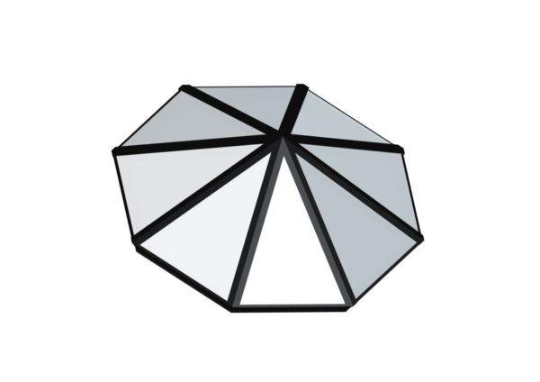 Octagonal Pyramid - Polycarbonate Black