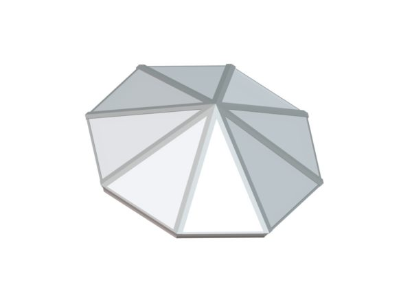 Octagonal Pyramid - Polycarbonate Bone White