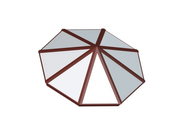 Octagonal Pyramid - Polycarbonate Brick Red