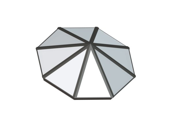 Octagonal Pyramid - Polycarbonate Colonial Gray